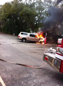 Ford F150 in Flames