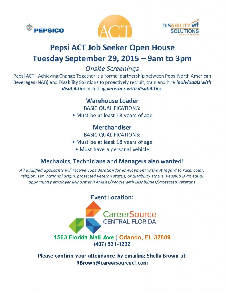 Pepsi ACT ORL- Open House